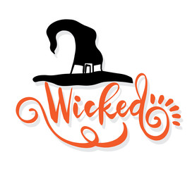 Happy Halloween vector lettering.