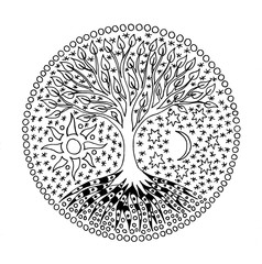 Tree of Life. Mandala. Symbolical picture