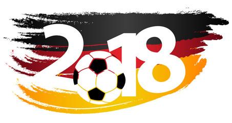 WM 2018 Deutschland Flagge Ziffern