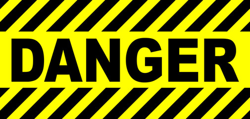 Yellow And Black Danger Sign