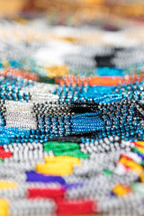 African glass bead background