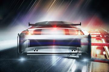 Creative sports car wallpaper