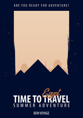 Egypt, Africa. Time to Travel. Journey, trip, vacation. Your adventure. Bon Voyage.