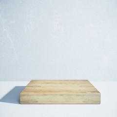 Wooden board, presentation concept