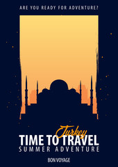 Turkey. Time to Travel. Journey, trip, vacation. Your adventure. Bon Voyage.