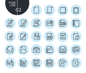 Collection of premium quality office workflow line icons. Outline concepts for web and app design and development. Modern vector illustration of thin line web symbols.