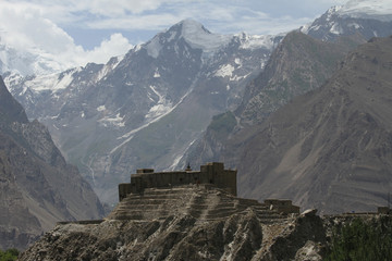 View of the Baltit fort, Northern Pakistan