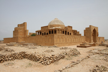 Ancient mausoleum at Makli Hill in Thatta, Pakistan