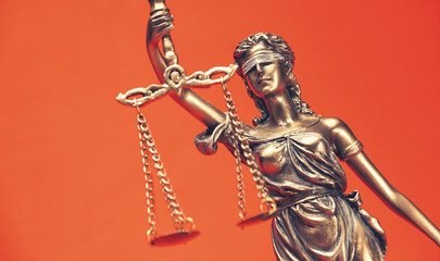 The Statue of Justice - lady justice or Iustitia, Legal law concept image