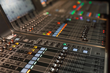 live sound mixing console