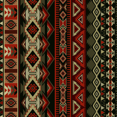 Geometric ornament for ceramics, wallpaper, textile, web, cards. Ethnic pattern. Border ornament. Native american design, Navajo. Mexican motif, Aztec ornament