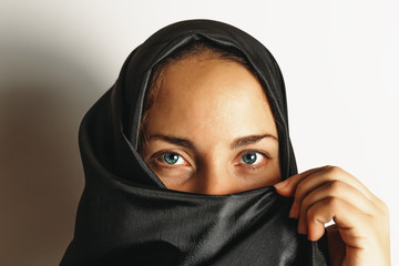 Muslim woman in hijab, close up portrait