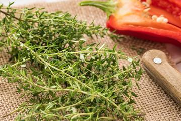 Fresh green thyme.