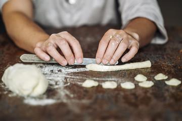 Home made Orecchiette pasta