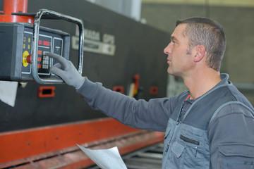 operating a machine