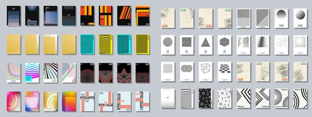 Set of trendy various geometric cover brochure Fototapete