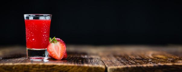 Homemade Strawberry liqueur Fototapete