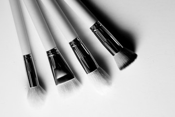 Make up brushes in white background