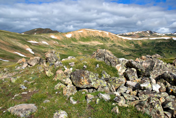 Tundra vista above Loveland Pass in Colorado.
