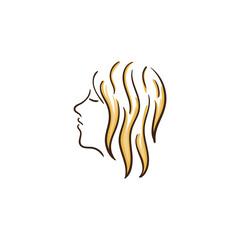 beauty hair girl vector illustration
