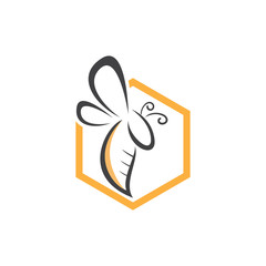 bee vector logo template
