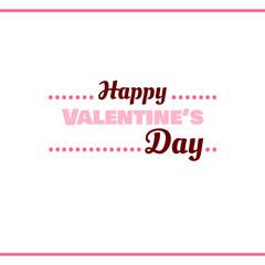Happy Valentines Day Pink Label
