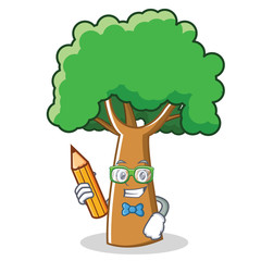 Student tree character cartoon style