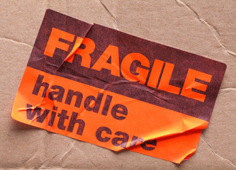 Fragile Sticker and Box