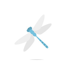 Dragonfly vector isolated