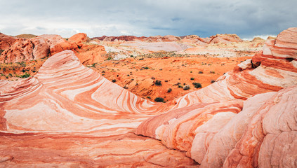 amazing sandstone shapes at valley of fire national park, nevada