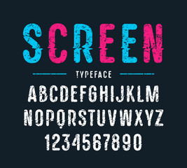 Decorative sanserif font with rounded corners