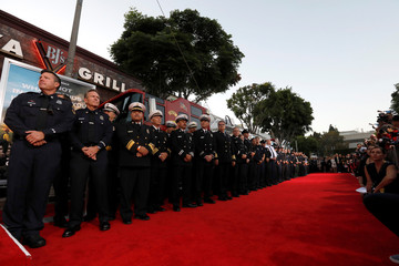 """Firemen line up the premiere for """"Only the Brave"""" in Los Angeles"""
