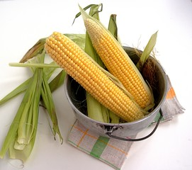 This is the corn cobs in the pot
