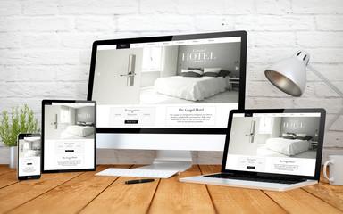 hotel website responsive design screen multidevices