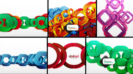 Digital geometric 3d abstract backgrounds