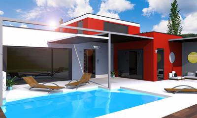 Belle maison moderne architecte