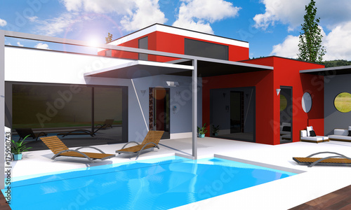 Belle Maison Moderne Architecte Stock Photo And Royalty Free Images