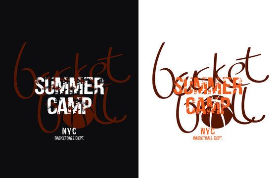 Basketball design. Vector illustration for t-shirt