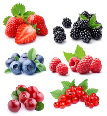 Set of berry.