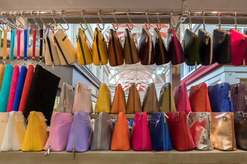 many leather woman bags