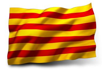 Senyera flag of Catalonia