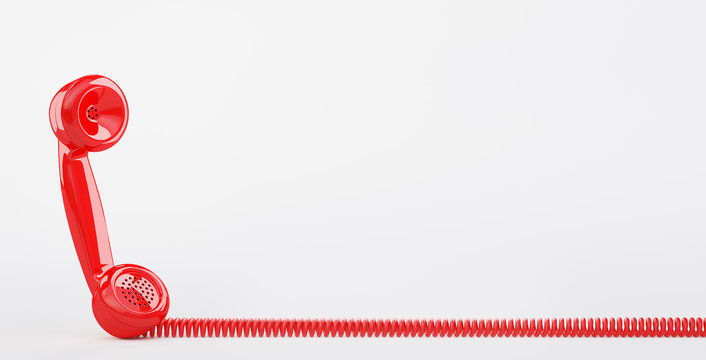 Cornetta telefonica rossa, telefono vecchio rosso