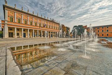 XIX century fountain in Reggio Emilia