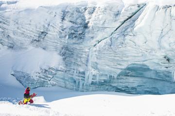 Glacier snowboard lifestyle