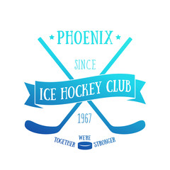 Ice Hockey club t-shirt design, vector print