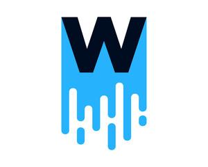 W Letter Wet Paint Icon Logo Design Element