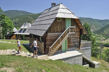Wooden House in Ethno Village Mecavnik in Serbia