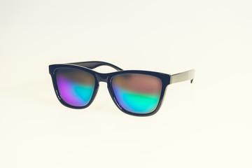Pair of iridescent black framed sunglasses