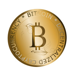 front coin of bitcoin