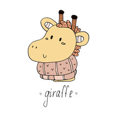 Cute giraffe print for kids
